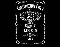 custom whiskey label etsy