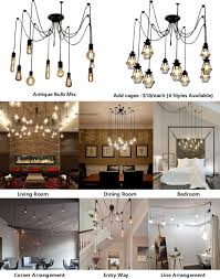 Colored Chandelier Light Bulbs Industrial Swag Cage Pendant Chandelier Lights This Listing Is