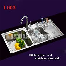 Cheap Stainless Steel Sinks Kitchen by Online Get Cheap Topmount Stainless Steel Sinks Aliexpress Com