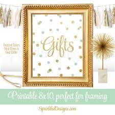 Green Table Gifts by Gift Table Party Signs For Wedding Birthday Or Baby Shower
