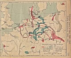 Travel Map Of Europe by 1up Travel Historical Maps Of Europe Principal Seats Of War In