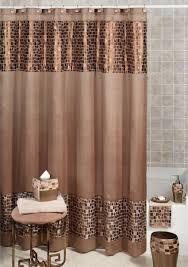 rainbow chevron shower curtain bathroom decor fabric bath