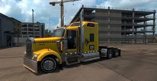 kenworth w900 parts kenworth w900 caterpillar skin american truck simulator mod