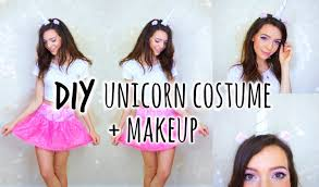 cute and easy unicorn costume makeup youtube