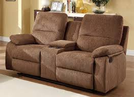 Power Reclining Loveseat Sofa Graceful Reclining Loveseat With Console Microfiber Center