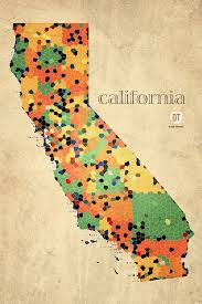 california map framed california map crystalized counties on worn canvas by design