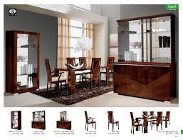 italian dining room sets modern table brown glass large cabinet