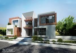 modern box villa on behance