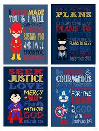 superhero set of 4 christian wall art print batman superman