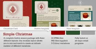 christmas card html email template business template