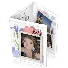 tri fold graduation announcements tri fold graduation photo announcements photo card chef