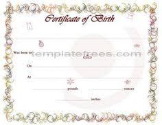 cute looking birth certificate template birth certificate