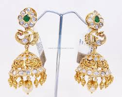 kempu earrings gold earrings gold rings 22kt gold jhumka gold jhumka with