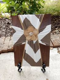85 best burlap fabric crosses on wood images on pinterest burlap
