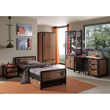 chambre complete garcon chambre complète enfant 5p alex marron noir