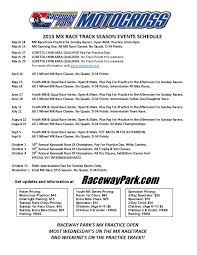 new jersey motocross tracks moto raceday schedule