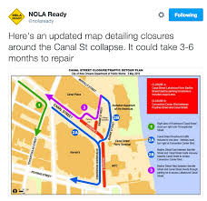 City Map Of New Orleans by City Provides Sinkhole Driving Map For Motorists Translation