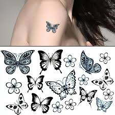 amazing butterfly temporary sticker tattoos