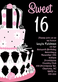 custom personalized sweet 16 party invitations