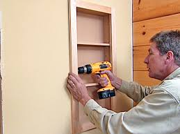 Screws For Kitchen Cabinets by How To Attach A Pre Fabricated Medicine Cabinet How Tos Diy