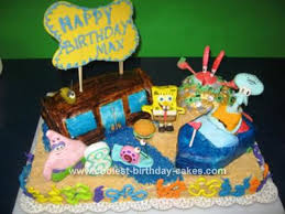 sponge bob cake coolest spongebob and friends cakes