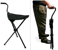walking stick cane chair folding portable handle camp sport seat