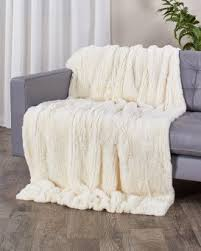 White Throws For Sofas Real Fur Blankets U0026 Fur Throws Fursource Com