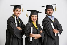 college graduation gown pretty successful indian girl college graduate wearing cap and