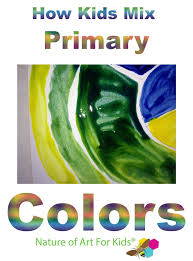 kids mixing primary colors art lesson 12 step color wheel teach