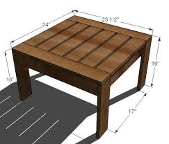 Building Outdoor Wooden Tables by Ana White Ottoman Or Accent Table For Simple Modern Outdoor