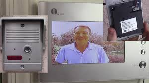 Front Door Video Monitor by 1byone Video Intercom Doorbell System Installation And