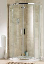 milton amber offset quadrant double shower door