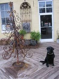 welded rebar christmas tree minimalist done in found objects