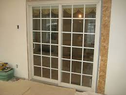 Used Patio Doors 6 Ft Sliding White Vinyl Patio Doors With Grilles Used