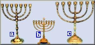 candeliere ebraico candelabro ebraico a 7 braccia oggettistica varia
