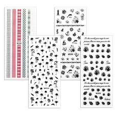 bmc endless summer rub on nail decals set of 4 sheets u2013 bundle