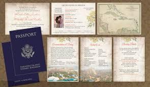 Create Your Own Wedding Invitations Passport Wedding Invitations Cloveranddot Com