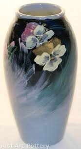 Weller Pottery Vase Patterns Weller Pottery Sicard Cylinder Vase Height 7 1 4 Inches