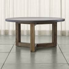 woodward round dining table with solid wood base crate and barrel