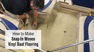 Boat Vinyl Flooring by How To Make Snap In Woven Vinyl Boat Flooring Youtube