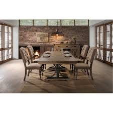 driftwood dining room table 5pc hm4280 8005 din driftwood 5 piece dining set with tufted chairs