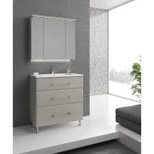 Miroir Lumineux Leroy Merlin Meuble De Salle De Bains De 80 à 99 Blanc Beige Naturels