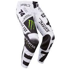 fox pants motocross fox mx pants 180 monster pro circuit white black green limited