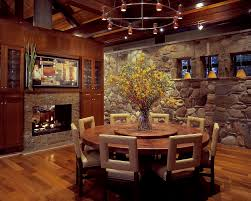 Round Table Granite Bay 36 Round Dining Table Dining Room Transitional With Bamboo Roman