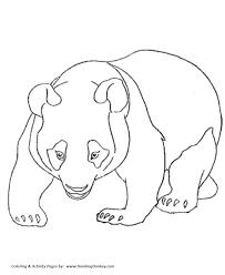 wild animal coloring pages panda bear walking coloring