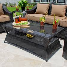 Vinyl Wicker Patio Furniture - providence 6 piece resin wicker patio seating set by lakeview