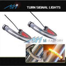 amber led turn signals light for fork fit yamaha xv 1700 road star