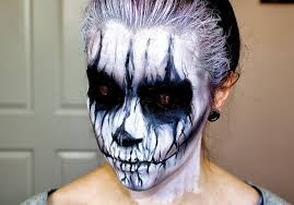 red contacts spirit halloween www letzmakeupblog com evil demon halloween makeup tutorial