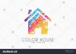 Creative Home Design Inc Creative House Logo Color House Design Stock Vector 399843328