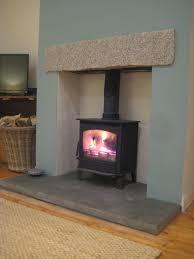 fitting log burner into fireplace home decorating interior